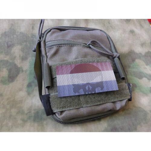 JTG IR Nationalitätsabzeichen Niederlande - Infarot Patch mit Punisher Logo, Vollfarbe