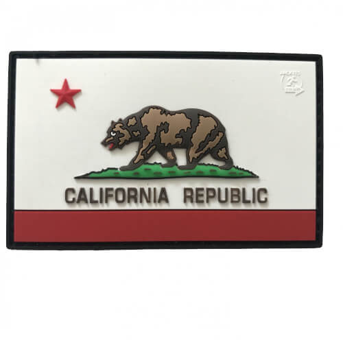 California Republic State Bear Patch 3D
