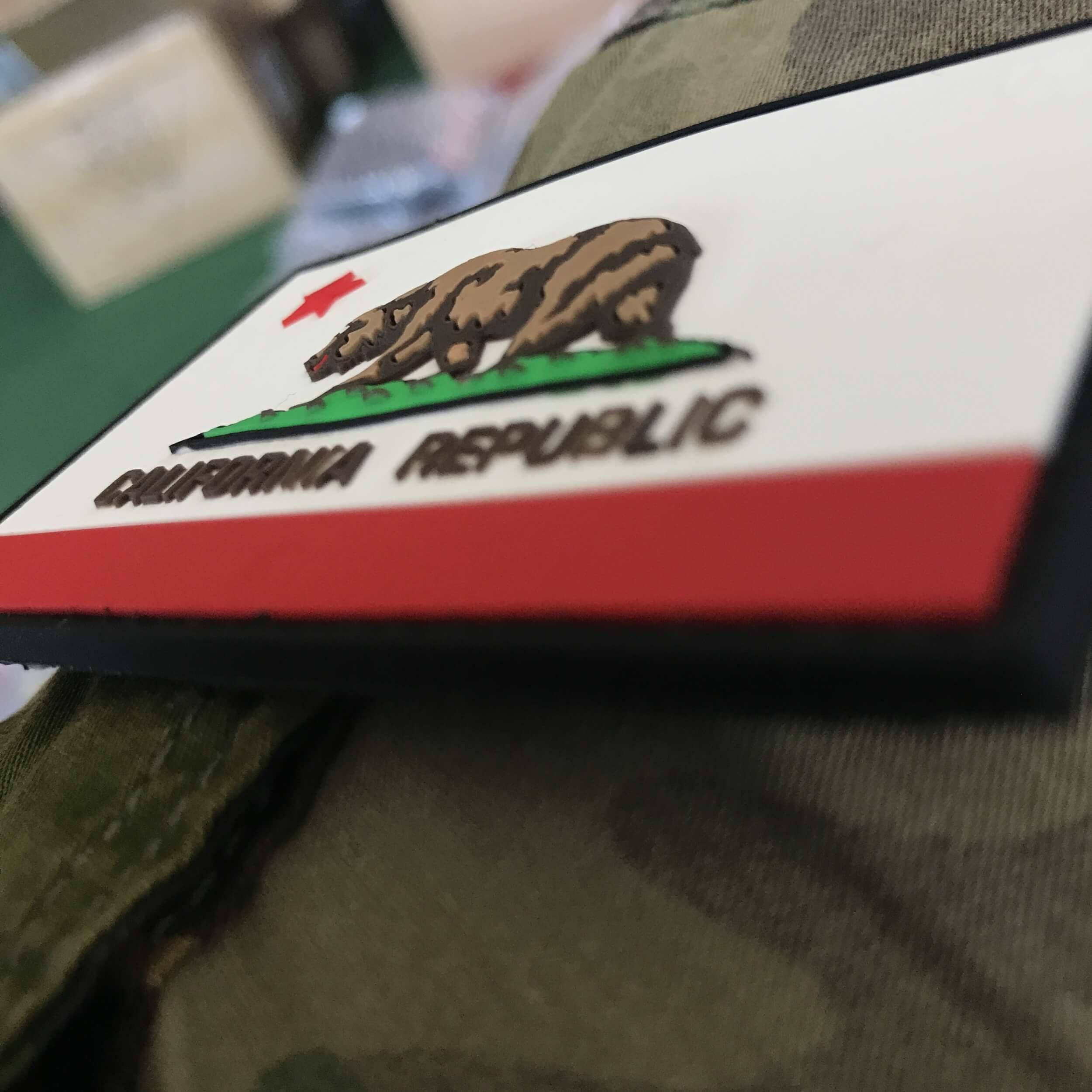 California Republic State Bear Patch 3D