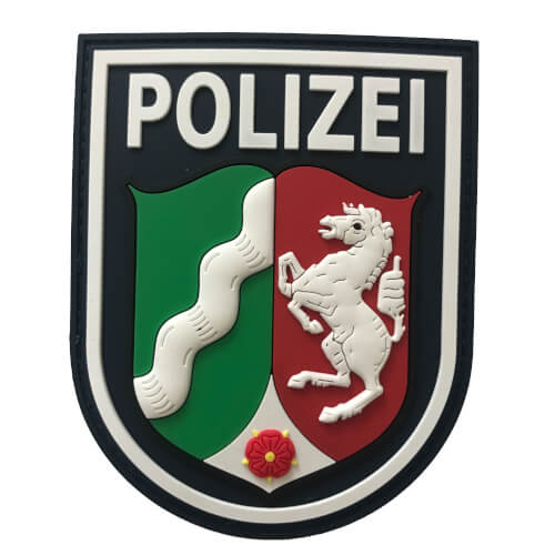 JTG Ärmelabzeichen Polizei Nordrhein-Westfalen Patch, polizeiblau / 3D Rubber Patch