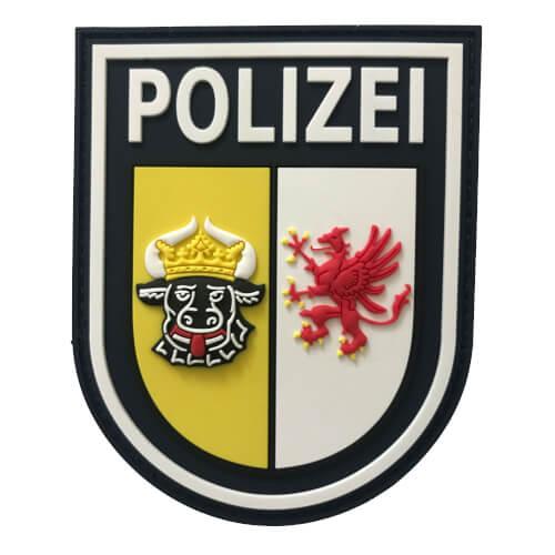 JTG Ärmelabzeichen Polizei Mecklenburg-Vorpommern Patch, polizeiblau / 3D Rubber Patch