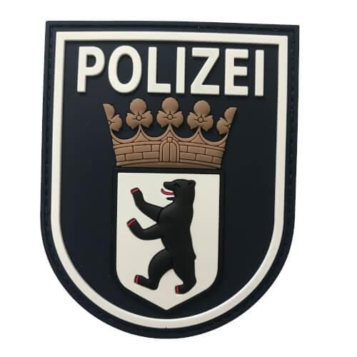JTG Ärmelabzeichen Polizei Berlin - Patch, schwarz / 3D Rubber Patch