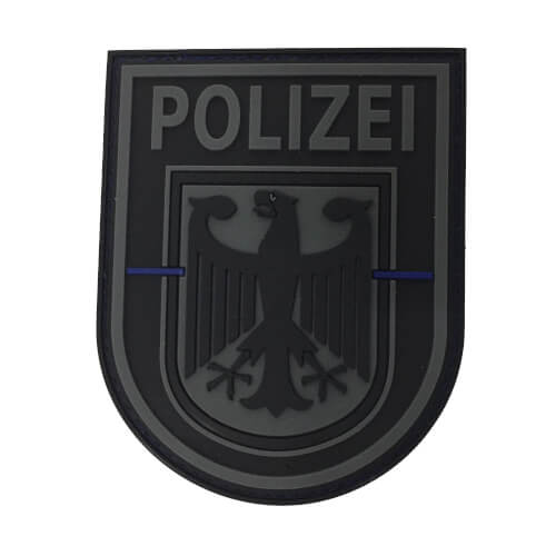 JTG Ärmelabzeichen Bundespolizei, blackops, Thin Blue Line, Special Edition Patch