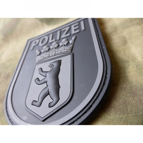 JTG Ärmelabzeichen Polizei Berlin Patch, Blackops / 3D Rubber Patch