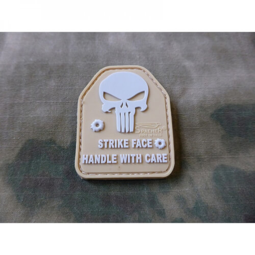 JTG SAPI PLATE Punisher Patch, tan / JTG 3D Rubber Patch