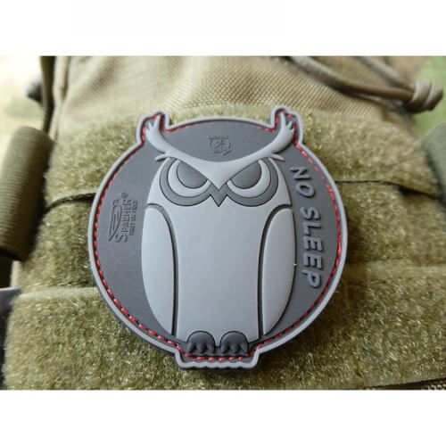 JTG No Sleep - SpecialOps Eulen Patch, / JTG 3D Rubber Patch