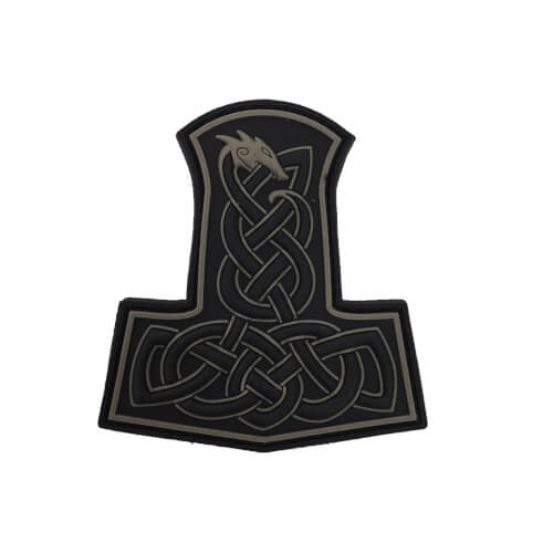 JTG Dragon Thors Hammer Patch, tan / 3D Rubber Patch
