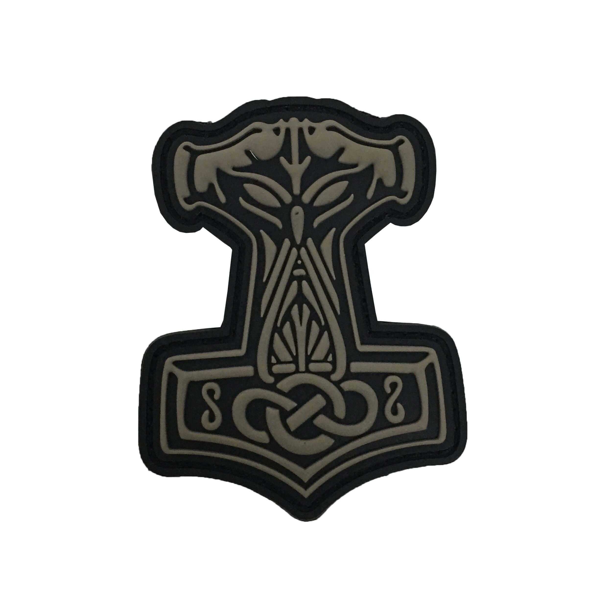 JTG Thors Hammer Mjölnir Patch, tan / 3D Rubber Patch
