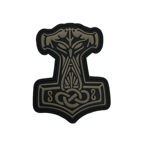 JTG Thors Hammer Mjölnir Patch, tan / 3D Rubber Patch
