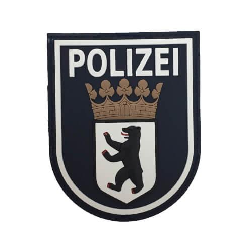 JTG Ärmelabzeichen Polizei Berlin, polizeiblau / 3D Rubber Patch