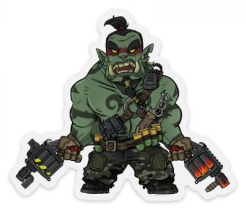 Mystic Warriors - Foom the Orc Warlord - Sticker Aufkleber