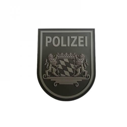 JTG Ärmelabzeichen Polizei Bayern Patch, blackops / 3D Rubber