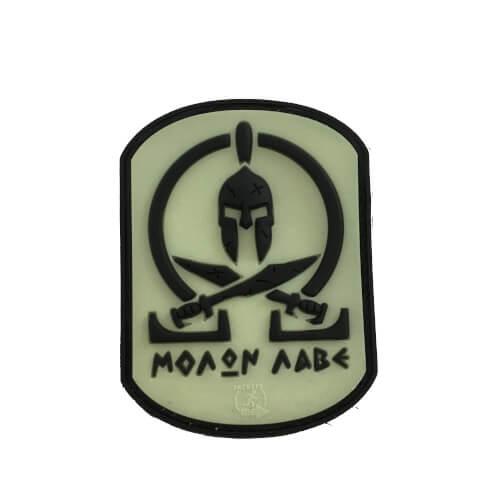 JTG - Molon Labe Spartan PVC Patch - blackghost-gid