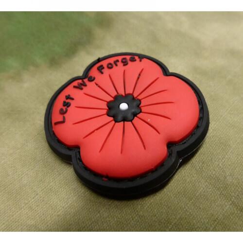 JTG Remembrance Poppy Patch / 3D Rubber patch