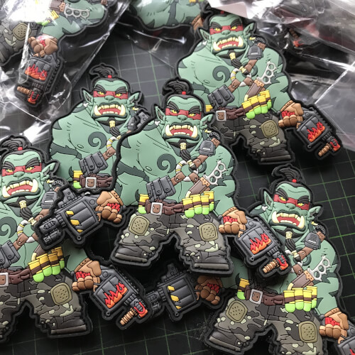 Mystic Warriors Patch - Foom the Orc Warlord