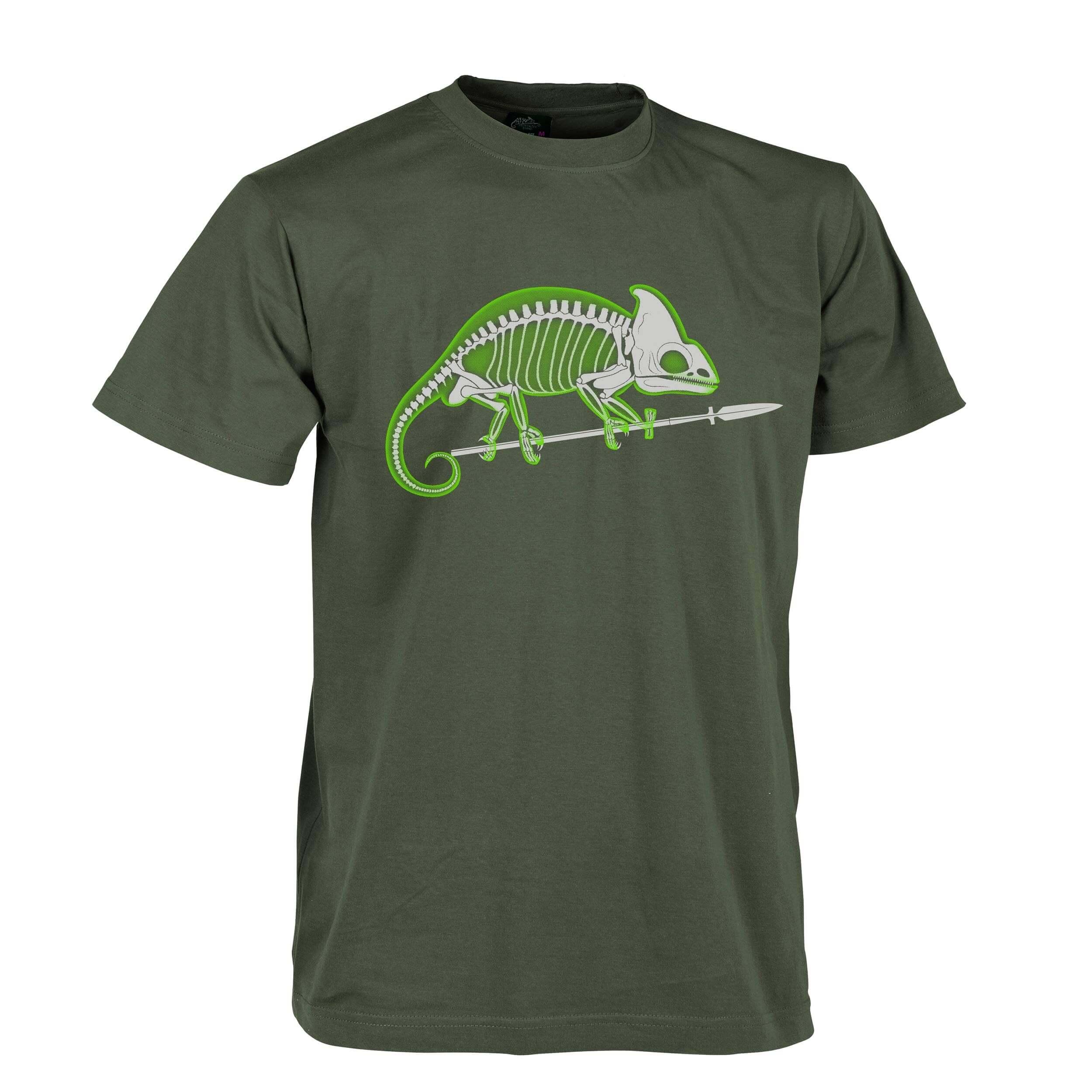 Helikon-Tex T-Shirt Chameleon Skeleton Olive Green