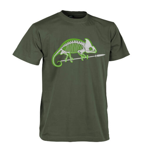 Helikon-Tex T-Shirt Chameleon Skeleton Olive Green