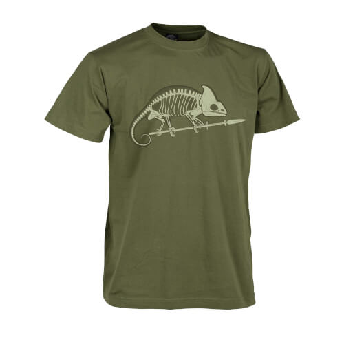 Helikon-Tex T-Shirt Chameleon Skeleton U.S. Green
