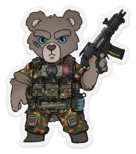 TACTICAL KSK KOMMANDO TEDDY STICKER AUFKLEBER