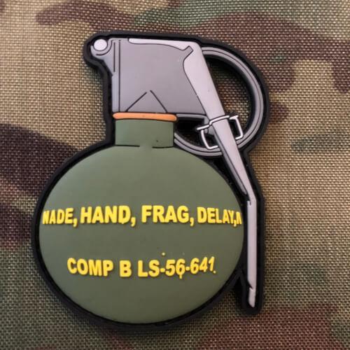 Standard Frag Handgranaten 3D Rubber Patch