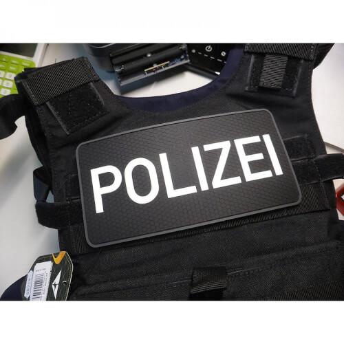 Rückenschild Polizei, swat Rubber Patch