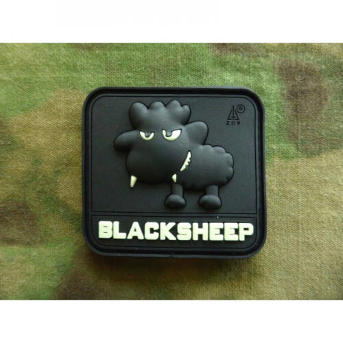 JTG Little BlackSheep Patch, gid (glow in the dark) / 3D Rubber Patch