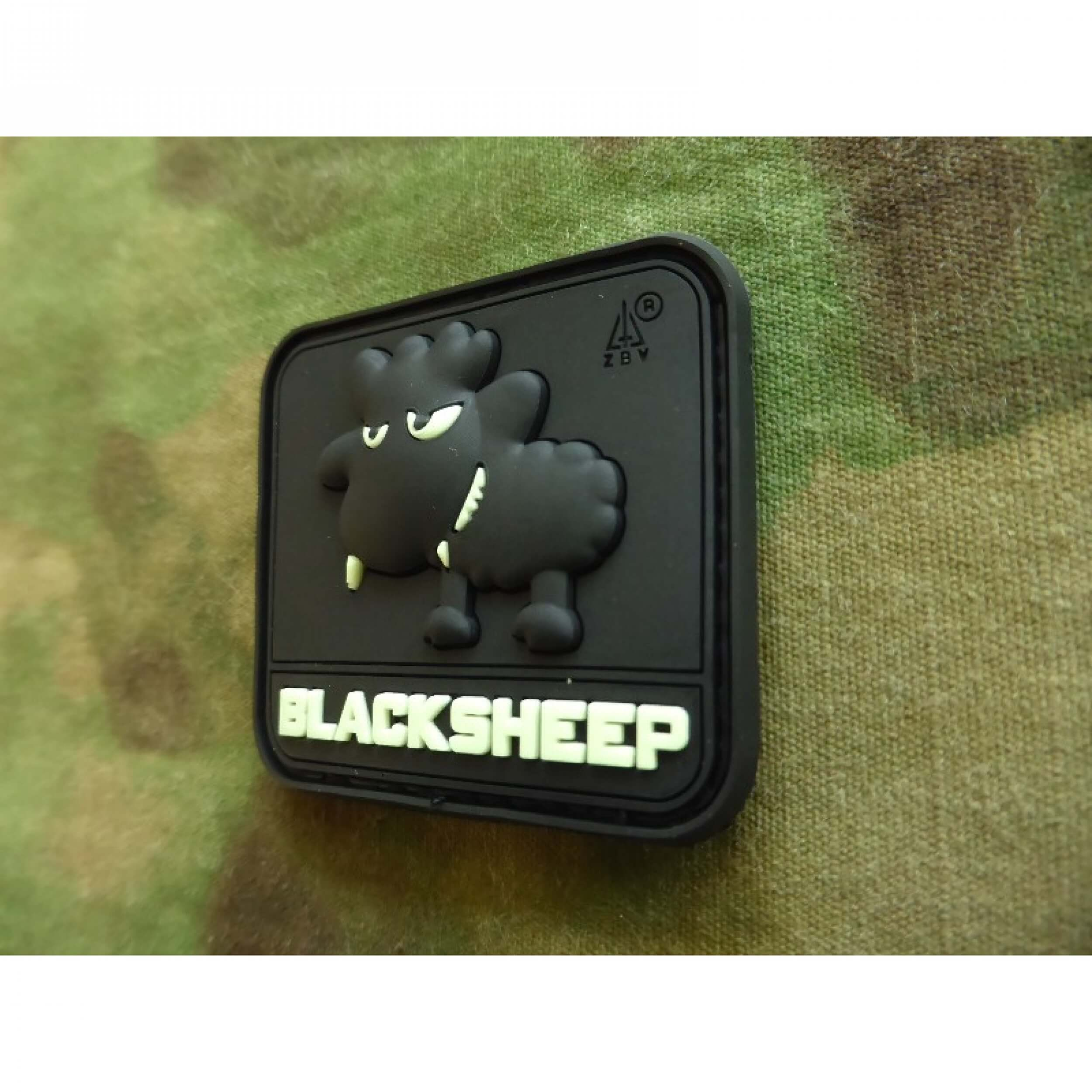 JTG Little BlackSheep Patch, gid (glow in the dark) / 3D Rubber Patch