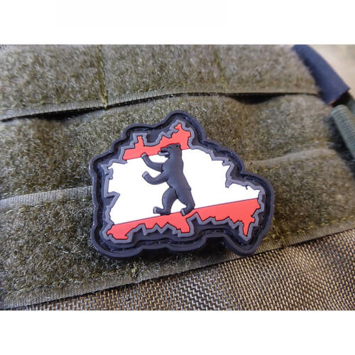 JTG Berliner Bär Flaggen Patch, fullcolor / JTG 3D Rubber patch