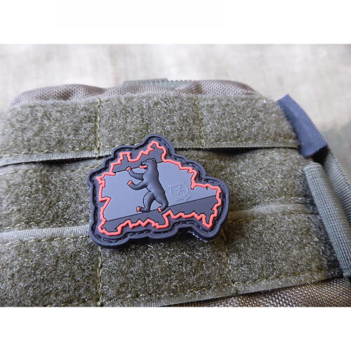 JTG Berliner Bär Flaggen Patch, blackops / JTG 3D Rubber patch