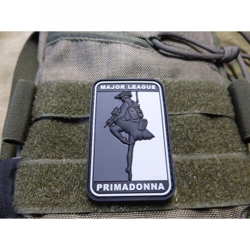 JTG MAJOR LEAGUE PRIMADONNA Patch, blackops / JTG 3D Rubber Patch