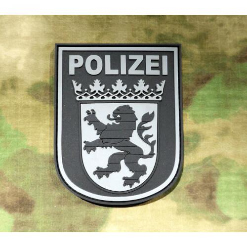 JTG Ärmelabzeichen Polizei Hessen, blackops / 3D Rubber Patch