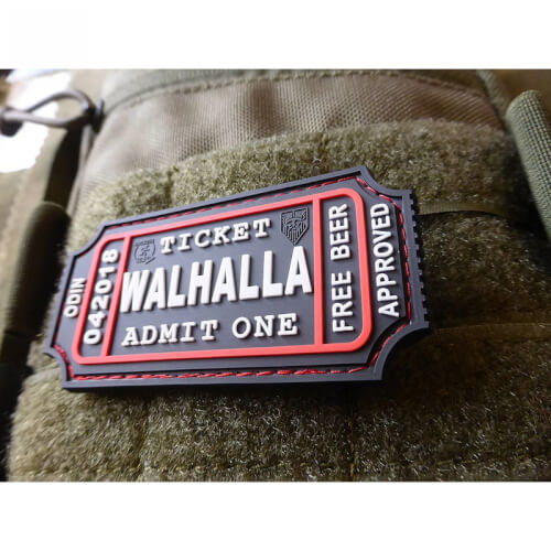 JTG WALHALLA TICKET - Odin approved, swat 3D Rubber Patch