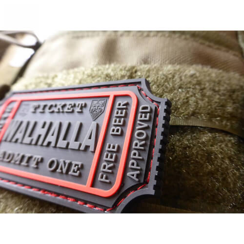 JTG WALHALLA TICKET - Odin approved, blackops 3D Rubber Patch