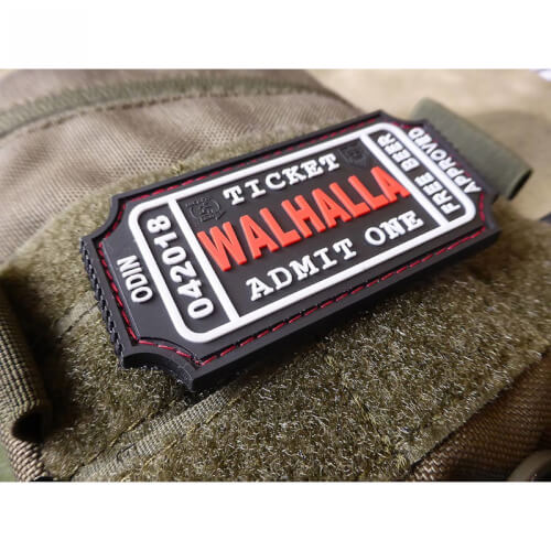 JTG WALHALLA TICKET - Odin approved, blackmedic 3D Rubber Patch