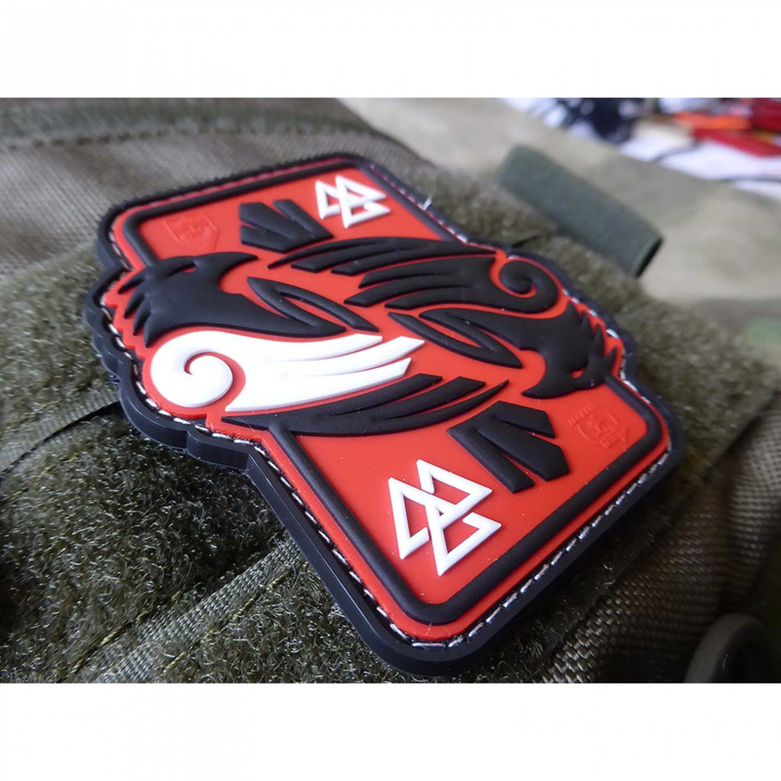 JTG Odins RAVEN, redsky 3D Rubber Patch