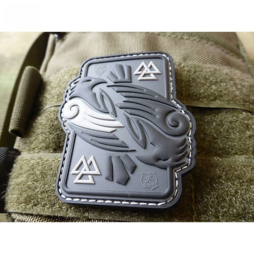 JTG Odins RAVEN, grey 3D Rubber Patch