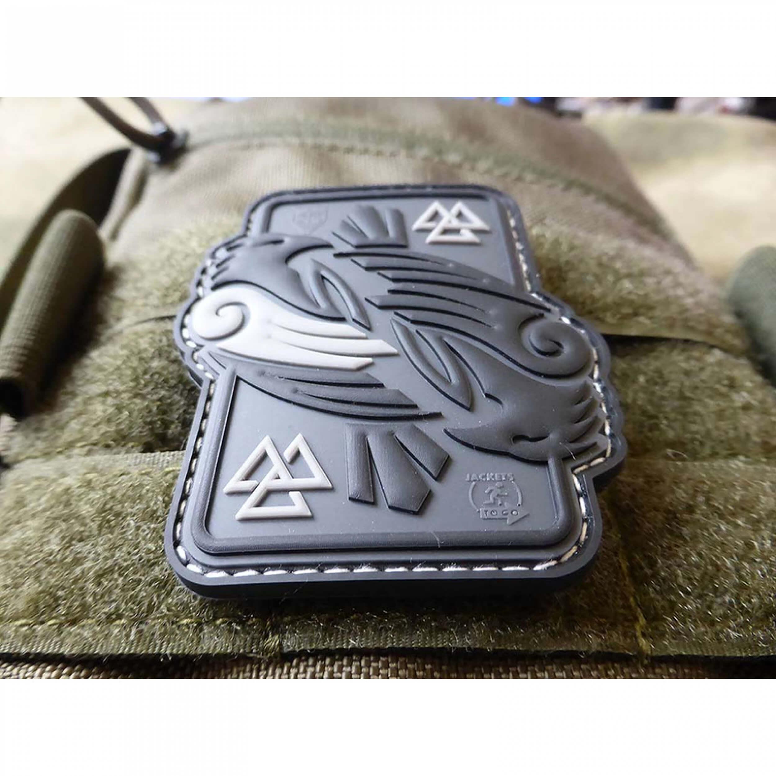 JTG Odins RAVEN, grey 3D Rubber Patch