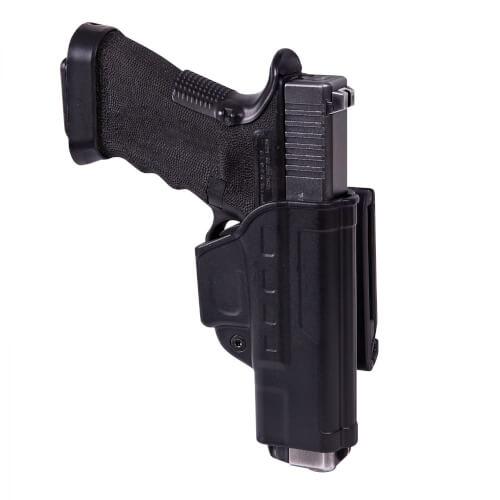 Helikon-Tex Fast Draw Holster für Glock 17 mit Gürtelclip - Military Grade Polymer - Schwarz