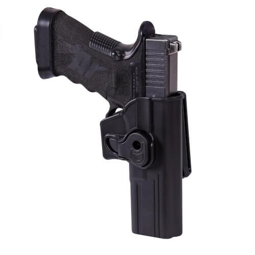 Helikon-Tex Release Button Holster für Glock 17 mit Gürtelclip - Military Grade Polymer - Schwarz