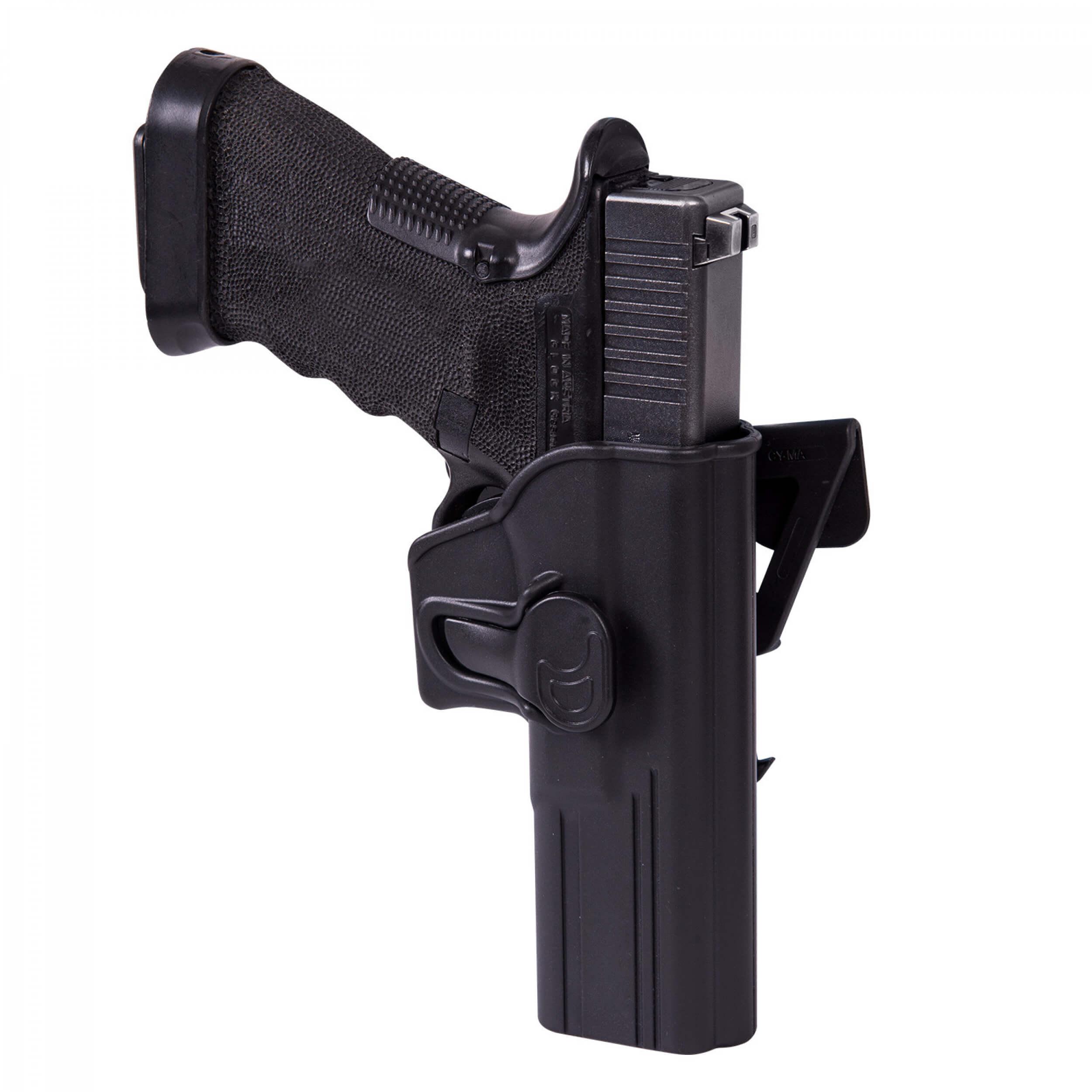 Helikon-Tex Release Holster für Glock 17 mit Molle Attachment - Military Grade Polymer - Schwarz