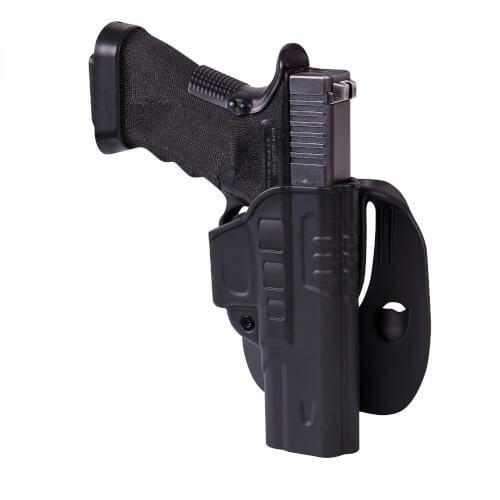 Helikon-Tex Fast Draw Holster für Glock 17 mit Paddle - Military Grade Polymer - Schwarz