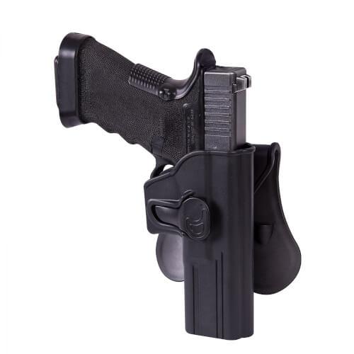Helikon-Tex Release Holster für Glock 17 mit Paddle - Military Grade Polymer - Schwarz