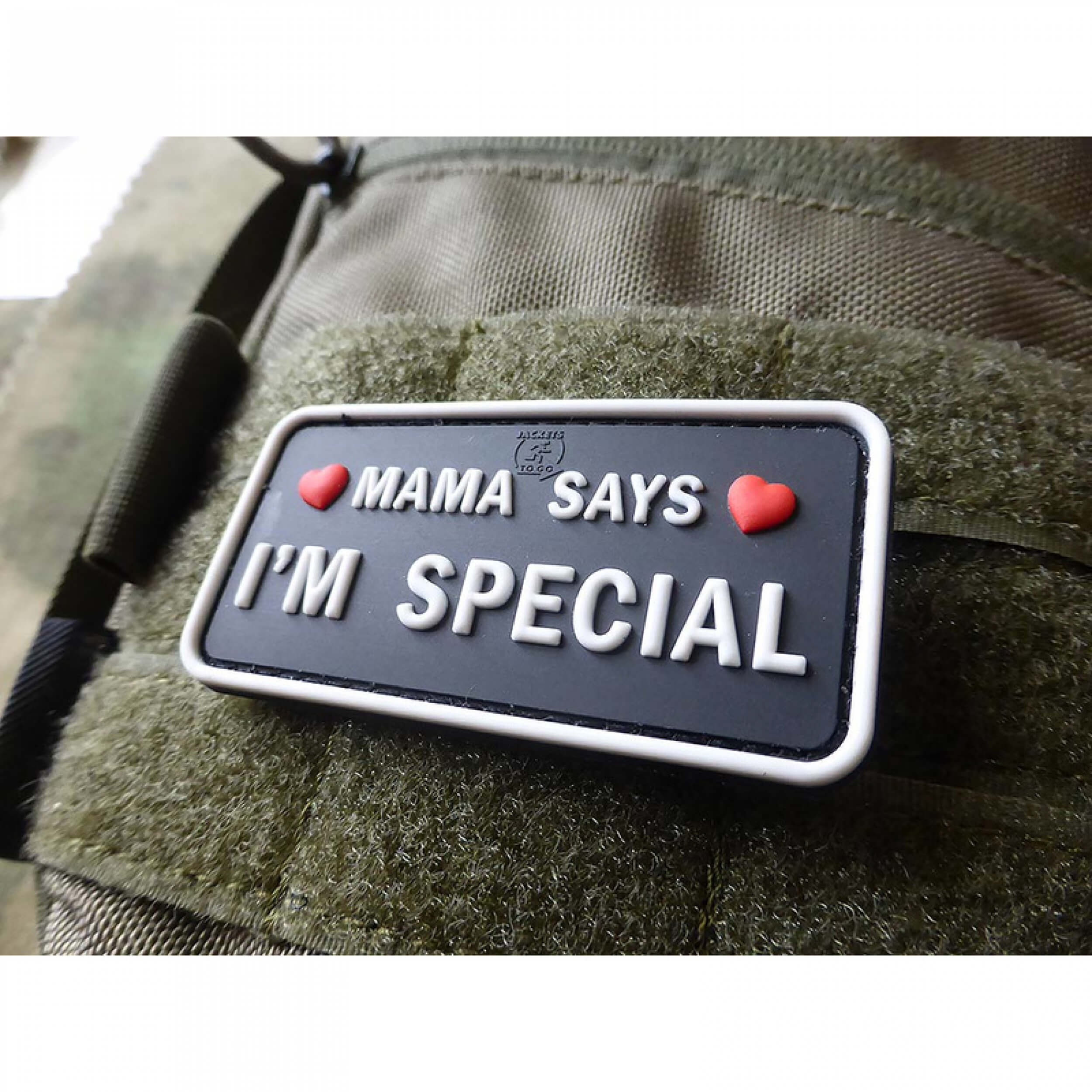 JTG MAMA SAYS - I´M SPECIAL Patch, swat / JTG 3D Rubber Patch