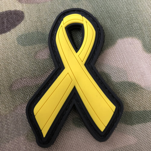 YELLOW RIBBON SCHLEIFE SUPPORT SOLDATEN SOLDIER  3D Rubber Patch