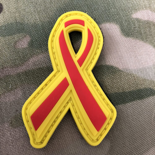 SUPPORT FIREFIGHTER FEUERWEHR RIBBON SCHLEIFE 3D Rubber Patch