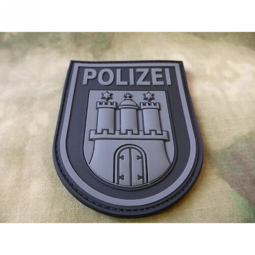 JTG Ärmelabzeichen Polizei Hamburg Patch, blackops / JTG 3D Rubber Patch