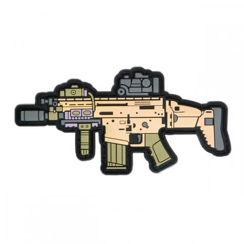 SCAR17 GUN RIFLE AIRSOFT PVC Patch 3D