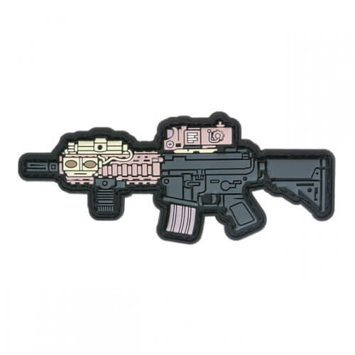 MK18 GUN RIFLE AIRSOFT PVC Patch 3D