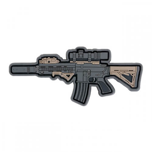 416D GUN RIFLE AIRSOFT PVC Patch 3D