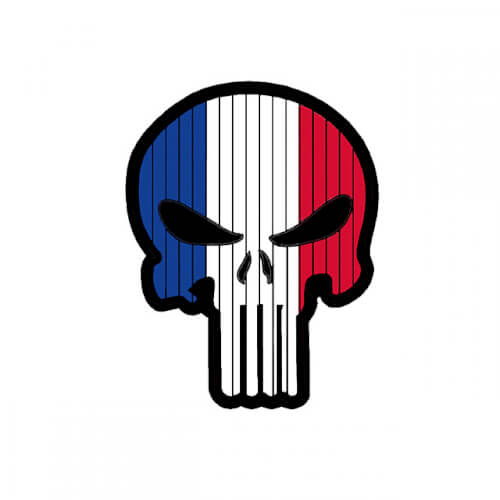 Flag PUNISHER Skull FRANCE PVC Patch